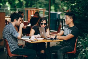 make friends with colleagues when living abroad